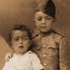 Garik as soldier like our father and Jan at age year and a half, Bairam Ali